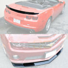 ZL1 Package Style Front Lip Splitter  Rear Truck Spoiler For 10 13 Camaro SS