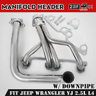 OEM For Jeep Wrangler YJ 1991-1995 2.5L L4 Manifold Header W/Downpipe Can
