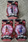 BANDAI MIRACULOUS ACTION FIGURE SET OF 3 STORMY WEATHER, LADYBUG, LADY WIFI