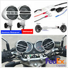 2 Pcs 3inch Silver Aluminum Motorcycle Stereo Speakers Bluetooth Wireless FM USB