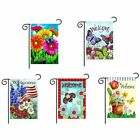 Bright Flowers Butterflies Welcome Spring And Summer Double sided Flag Fashion