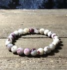 BEAUTIFUL RARE Eudialyte NATURAL 8mm CRYSTAL BRACELET Russia