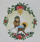 Handpainted Needlepoint Canvas Nativity Ornament Needle Graphics NG C0R210