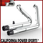 Full Exhaust Pipes System C1 Fit Harley Dyna 2006 2011 Low Rider FXDL