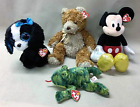 TY Beanie Babies; Croacks, Tracey, Whittle & Mickey Mouse 4 Total