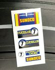 Aurora AFX Thermal Print Decals w/better chrome than original BLUE SUNOCO #7