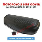HONDA CB550F CB 550 F1 1975-78 BLACK SEAT COVER WITH GOLD LOGO & STRAP