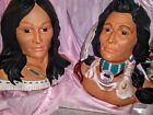 Native American Indian Head Bust Figure  2 Small Figures