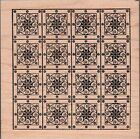 Outlines Rubber Stamp Co Quilt Pattern Large Rubber Stamp New