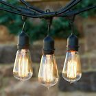 Industrial Clear Vintage Edison Style Bulb String Lights Outdoor Porch Patio 25