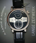 ** A. Lange & Sohne Zeitwerk 18k White Gold Mens Manual Watch Box/Papers 140.029