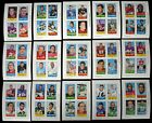 1969 Topps Football Four In One Card Lot Complete Set of 66 NM (66 cds)