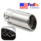Silver Car Oval Exhaust Tip Tail Muffler Pipe Stainless Tube 40mm 58mm USA 1Pcs