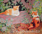 Beaded cross stitch kit Kittens Hand embroidery needlepoint tapestry kit Cats 3D