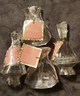 BRAND NEW WOMENS CRYSTAL PERFUME BOTTLE LOT BY SUGAR STUDIO 4 BOTTLES TOTAL