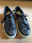 PUMA Basket Sz 105 42 Blue Leather Suede Platform Sneaker