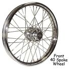 40 Spoke 23 Chrome Front Wheel for Harley 84 99 FXST Softail  Wide Glide