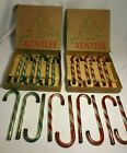Set of 21 Vtg Mercury Glass Candy Cane Ornaments Blown KENTLEE 1950s w 2 Boxes
