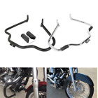 Mustache Engine Guard Crash Bar Fit For Harley Fat Boy FLSTF 00-17 Black/Chrome