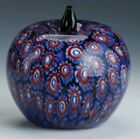 Last One  Murano Millefiore blown Glass Apple Paperweight