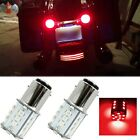 Red 1156 7506 5007 LED Bulbs For BMW Harley Davidson Rear Turn Signal Tail Light