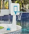Pool Side Basketball Hoop Adjustable Water Goal Net Swimming Backboard Fun Games