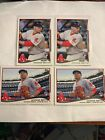 MOOKIE BETTS Lot Of (4) 2014 Topps Update Rookie RC Cards 2 Each US26 US301