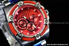 NEW Invicta 53mm Mens Bolt Quartz Chronograph Silver IP Candy Red Dial SS Watch