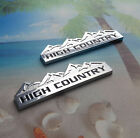 Brand New 2pcs 2x High Country Fender Tailgate Emblems Badges For All Cars