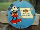 VINTAGE 1933 SUNOCO MERCURY MADE MOTOR OIL PORCELAIN GAS STATION PUMP SIGN