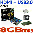 GAMING COMBO AMD FX 4350 QUAD CORE CPU+8GB DDR3 RAM+ASUS HDMI USB3 Motherboard