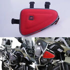 Red Saddle Storage Bag Engine Guard Bar Case Pouch For BMW R1200GS F800GS Honda