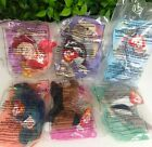 6 McDonald Happy Meal Toys Ty Beanie Babies Antsy Peanut Iggy Chip Strut Stretch