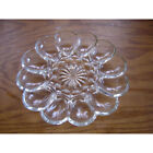Vintage EAPG Clear glass Deviled Egg Tray - 10