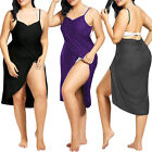 Women Swimwear Strap Beach Cover Up Wrap Sarong Sling Skirt Maxi Dress Plus Size