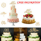 Mr and Mrs Wedding Cake Topper Engagement Cake Wood Toppers DIY Cake Decoration