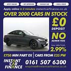 BMW M4 30 DCT 2dr GOOD BAD CREDIT CAR FINANCE