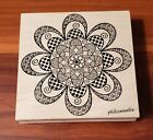 Beautiful Mandala Flower Outlines Rubber Stamp Co Wood Mounted Brand New