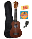Lanikai LU 21 Soprano Ukulele Bundle with Gig Bag Clip On Tuner Austin Bazaar