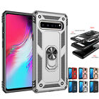 For Samsung Galaxy J4 A6 Plus A7 2018 A50 Armor Phone Case Cover Stand Magnetic