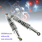 2pcs Motorcycle 320mm Chrome Shock Absorber Universal Fit for Suzuki
