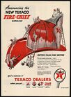 Vintage magazine ad TEXACO FIRE CHIEF gas oil from 1946  large firemans hat pic