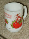 Vintage Strawberry Shortcake Milk Glass Mug by Anchor Hocking