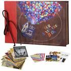 Our Adventure Book Leather Cover with Balloon House 116 x 75 inch 60 Pages