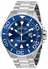 Invicta Mens 28766 Pro Diver Quartz 3 Hand Blue Dial Stainless Steel Watch