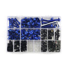 Motorcycle Sportbike Fairing Body Kit Bolts Fastener Clips Screws Blue
