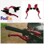 2 Pcs Aluminum Motorcycle Hydraulic Brake Clutch Cylinder with Adjustable Levers