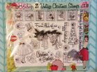CARD MAKING  PAPERCRAFT Rubber Stamp Set Happy Holidays Set New M21