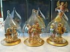 Fontanini by Roman Lot of 3 Joy and Beauty of the Nativity Christmas Ornaments