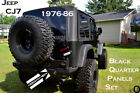 Jeep CJ7 Black Rubber Coated 3 PC Aluminum Diamond Plate Rear Quarter Panel Set
